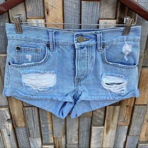 Woman's Jean shorts distressed amuse society 24